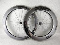 Wholesale wheel set carbon bike - EVE bob 60mm +88mm 700c wheelset carbon road bike clincher wheels+aero spokes 20-24H+ skwer glossy matte