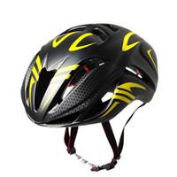siyah sarı dağ bisikleti toptan satış-Tünel Kask Siyah Ve Sarı Sürme Ekipmanları Kask Dağ Bisikleti Ultra Hafif erkek Özel Kask Bisiklet Aksesuarları