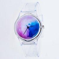 прозрачные кварцевые мужчины оптовых-ZLF0348 Женщины Мужчины смотреть прозрачный ремешок группа Кварцевые наручные часы мода модные популярные хороший Sweety подарок