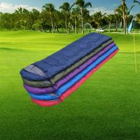 Wholesale aqua print comforter - Outdoor Sleeping Bags Warming Single Sleeping Bag Casual Waterproof Blankets Envelope Camping Travel Hiking Blankets Sleeping Bag