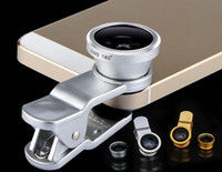 Wholesale price lenses for glasses resale online - 3 in Universal Clip Fish Eye Wide Angle Macro Phone Fisheye glass camera Lens For iPhone Samsung Cheap Price Best quality LLFA