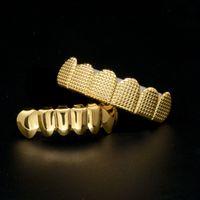 schmuck für zähne großhandel-Männer Gold Silber Zähne grillz 6 Top Bottom Faux Dental Zahn Grills Für Frauen Hip Hop Rapper Körperschmuck Geschenk