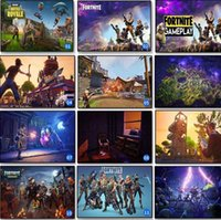 Wholesale black glass paint - 13 Styles Fortnite Silk Poster Fortnite Battle Game Poster Wall Painting Posters Prints on Silk Art Fortnite Wall Stickers CCA10006 100pcs