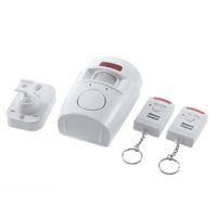 ev alarm sistemi kızılötesi sensör toptan satış-105BD Ses Uzaktan Kumanda Kablosuz Kızılötesi Hareket Dedektörü Hırsız Sensörü Alarm Güvenlik Ev Sistemi Ayarlanabilir montaj