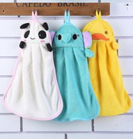 Wholesale lovely invitations resale online - 100pcs Cute Animal Microfiber Kids Children Cartoon Absorbent Hand Dry Towel Lovely Towel For Kitchen Bathroom Use
