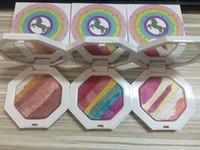 Wholesale Rainbow Eyes - Fenty Beauty by Rihanna Unicorn Rainbow powder Highlighters Beauty long lasting natural eyeshadow powder 3 Colors eye shadow blusher DHL