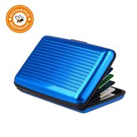 bonamie blue aluminum bank id waterproof anti magnetic packs card holder large capacity card sets wallet business bag - Magnetic Business Card Holder