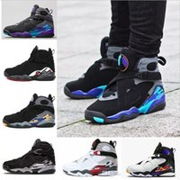 Wholesale design chrome - Design 2018 8 8s VIII men Basketball Shoes Aqua Black Purple Chrome Playoff Red Three Peat 2013 RELEASE Athletic Sports Sneakers Size 41-47