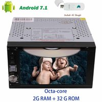 Wholesale computer phone systems - 4G dongle+6.2'' trip computer Car Radio Stereo Android 7.1 System Octa-core GPS Navigation in Dash Double din Car dvd HeadUnit Player