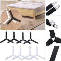 Wholesale triangle bedding for sale - home supply hand tool kit per set Triangle Bed Sheet Mattress Holder Fastener Grippers Clips Suspender Straps