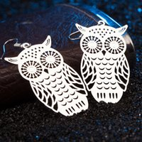 Wholesale European Owls - NBE001SR Brand new Hot selling jewellery Owl Earring, European and American explosive accessories wholesale Christmas gifts free shipping