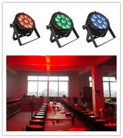 impermeabilizacion led par puede al por mayor-4pieces 9x10w rgbw led luz plana par led par exterior impermeable mini led par puede