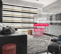 cortina de rolo de cebras venda por atacado-Frete grátis elegante Popular zebra blinds dupla camada de três cores cortinas de rolo e cortina de tecido a cortina janela