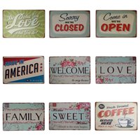 Wholesale shop decoration design for sale - Group buy Vintage Sweet Love Theme Tin Poster For Home Dessert Shop Decoration Hang Iron Painting Multi Design Tins Sign Hot Sale cm Z