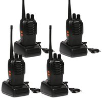 5w uhf walkie venda por atacado-4 pcs Baofeng BF-888S Walkie Talkie 5 W Handheld bf 888 s UHF 5 W 400-470 MHz 16CH Em Dois Sentidos Portátil Monitor de Varredura Presunto CB rádio
