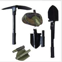 Wholesale folding shovel steel - Four In One Folding Shovel Portable High Carbon Steel Spade Durable Multi Function Shovels For Outdoor Travel 7 25sr B