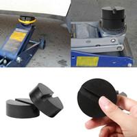 Wholesale pad jacks - 2 PCS Universal Diameter DIY Car Rubber Jack Pad Auto SUV Slotted Frame Rail Hydraulic Floor Jack Disk Rubber Pads Black