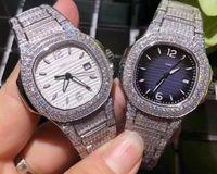 pavimentar relógios venda por atacado-Dois estilos das Mulheres Relógios Das Mulheres Suíço Ronda Quartzo Cal.515-3 Eta Senhoras Relógio de Pave Completa Bling Diamante Dial Pulseira Auto Data relógios de Pulso