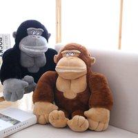 büyük doldurulmuş hayvan maymunları toptan satış-50 cm Sevimli maymun peluş oyuncaklar siyah / kahverengi büyük orangutan peluş bebek dolması hayvanlar yastık doğum günü hediyesi için boy