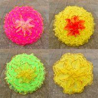 Wholesale iron fabric flowers - Multi Colors Flower Umbrella Iron Rod Metal Frame Gauze Craft Umbrellas For Dance props Supplies Top Quality 28sz2 VB
