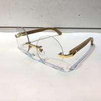 Wholesale wooden eyeglasses for sale - Group buy Luxury Glasses Prescription Eyewear Vintage Round Frame Wooden Men Designer Eyeglasses With Original Case Retro Design Gold Plated