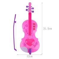 keman müziği enstrümanı toptan satış-4 Strings Müzik Elektrik Keman Çocuk Müzik Aletleri Eğitici Oyuncaklar Aletleri Eğitici Oyuncaklar Doğum Günü Hediyesi