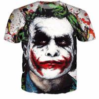 palhaço do batman camiseta venda por atacado-Batman The Joker DC Comics Superhero Mulheres Homens Nova Moda Verão Unisex Engraçado 3d Impressão Crewneck Casual T Shirt Tops Tee Q64