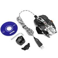 ingrosso portatile per giochi gratis-ZERODATE X600 Mouse da gioco universale Max 2500 DPI USB con filo ottico luci Gioco Mouse Mouse per Pro Gamer Laptop Spedizione gratuita Nuovo