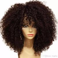 meilleures perruques avant de dentelle frisée achat en gros de-Meilleure qualité Perruques Courtes Perruques Synthétique Perruque de Cheveux de Ladys 'Perruque Courte Afrique Afrique Synthétique Avant de Lacet Synthétique pour femme noire