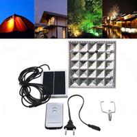 linterna led de control remoto al por mayor-25 LED de energía solar que acampa luz al aire libre control remoto solar noche lámpara tienda linterna luces + puerto de cargador USB para teléfono