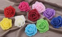 küsse köpfe großhandel-Handgemachte künstliche Schaum-Rosen-Blumen-Köpfe für die Hochzeits-Dekoration, die Ball 7cm 100 PC / Los küsst Freies Verschiffen