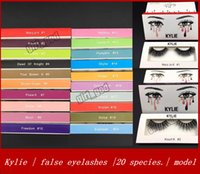 Wholesale Plastic Hand Model - New kylie false eyelashes mink pure handmade 3D false eyelashes thick slender 20 Model