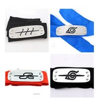 Wholesale naruto cosplay accessories for sale - PrettyBaby ANIME Naruto Headband cm Leaf Village Logo Konoha Kakashi Akatsuki Members Cosplay Costume Accessories blue red black OTH582