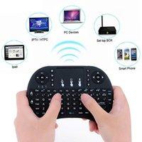 18 téléviseurs achat en gros de-2.4G Mini USB Clavier Sans Fil Fly Air Touchpad Pour Android Smart TV Box PC 74 clé standard + 18 clé média