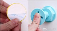 Wholesale key hook holders resale online - Economic Screw Strong Adhesive Hook Different Colors Door Coat Hanger Key Bag Storage Holder Rack Small kh C R