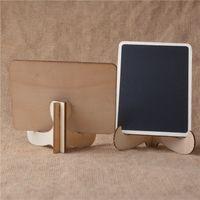 mini tezahürat tahtası toptan satış-1 ADET Kara Tahta Mini Ahşap Mesaj Blackboard Standı ile Küçük Siyah Duyuru Panosu Düğün Ev Ofis Dekor Malzemeleri