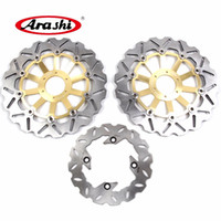 Discount honda cbr 1998 - Arashi 1 Set For HONDA CBR600F 1995 1996 1997 1998 CNC Front Brake Disk Rear Brake Disc Rotors CBR 600 F CBR600 600F