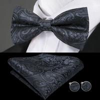 nœud en soie pour robe achat en gros de-Mens noeud papillon noir Paisley 25 styles Jacquard en soie tissée noeud papillon robe de mariée en gros affaires livraison gratuite LH-0718
