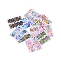 ingrosso adesivi a foglio completo-12 fogli FAI DA TE Farfalla Full Water Transfer Stickers 3D Manicure Nail Art Manicure Bellezza Decorazione Decalcomanie Strumenti Trasporto di goccia