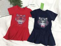 Wholesale new sweet girls - Fashion 2018 New Cat Summer Girls Girls Short sleeve Sweet princess dress Child Cute dress 0022