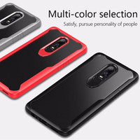 Wholesale tpu case cover for oneplus one online – custom Hybrid Armor Acrylic Phone Case For OnePlus Clear Transparent Hard Cover Soft Bumper For One Plus Case B