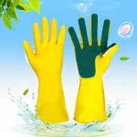 Wholesale dishes washing glove for sale - Group buy 2pcs Home Washing spone Cleaning Gloves Kitchen Dish Sponge Fingers Rubber Household Sponge Finger Supply Dishwashing Gloves FFA1042