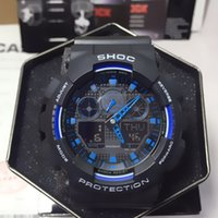 Wholesale Shock Gift - The impact of relogio men's sports watch, the new LED chronograph watch box, gift, military, man and boy, all functions work, waterproof
