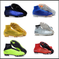 Wholesale Original Leather Soccer Boots - Cristiano Ronaldo cr7 soccer shoes Original soccer cleats Mercurial Superfly Champions football boots Magista Obra football shoes