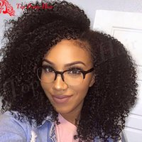 ingrosso parrucche brasiliane africani americane-Parrucca brasiliana afro crespo crespo parrucca piena del merletto parrucca afro riccio crespo anteriore afro-americana donne afro parrucche per le donne nere