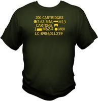 Wholesale m4 sales - 2018 Summer Hot Sale Men T-shirt 7.62 NATO 308 Ammo Can T shirt M4 AR15 M16 Molon Labe Morale Patch Sniper