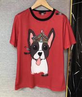 Wholesale Female Head - High Quality Cotton T-shirt Female tog head printed red Short Sleeve Summer Womens T-shirts O Neck Hip Hop DG Style T Shirt women