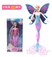 Wholesale Wholesale Mermaid Dolls - Fashion Swimming Mermaid Doll Moxie Girls Magic Classic Mermaid Doll With Butterfly Wing Toy For Girl's Birthday Gifts