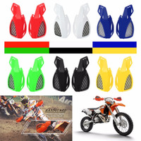 Wholesale motorcycle hand guards resale online - New Pair Universal Motorcycle Shockproof Hand Guards Protector Handguards Windproof Motocross Colors