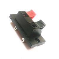ingrosso spine di spinta nere-Connettore a morsetto per altoparlante a pressione a 2 punte 2 neri e nero a 2 pin. Spedizione gratuita